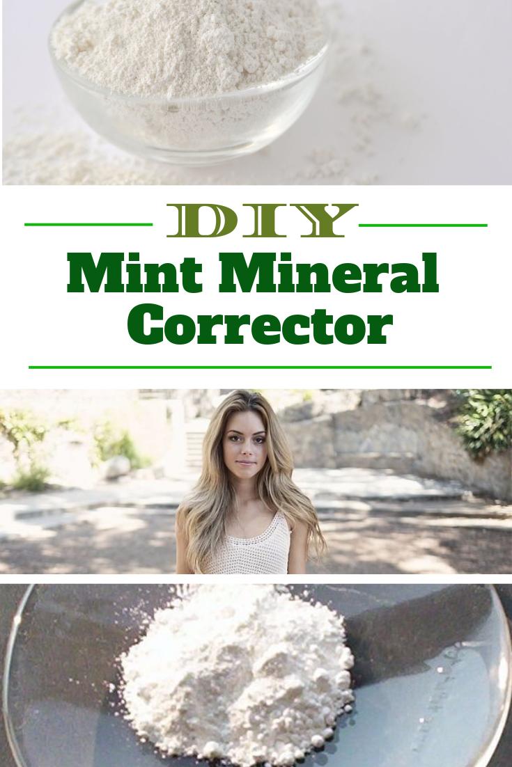 DIY Green Mineral Corrector Green concealer, Redness