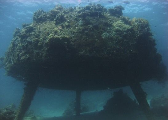 """Précontinent II All that remains of Jacques Cousteau's 1960s underwater """"village."""""""
