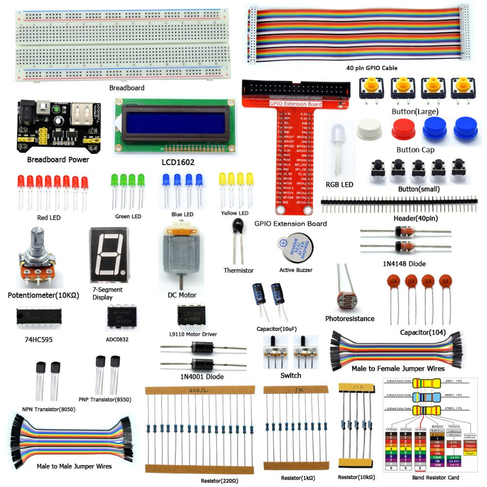 Motor C and Python Code Adeept Ultrasonic Distance Sensor Starter kit for Raspberry Pi 3 2 Model B//B+ LCD1602 Beginner//Starter Kit for Raspberry Pi with User Manual//Guidebook