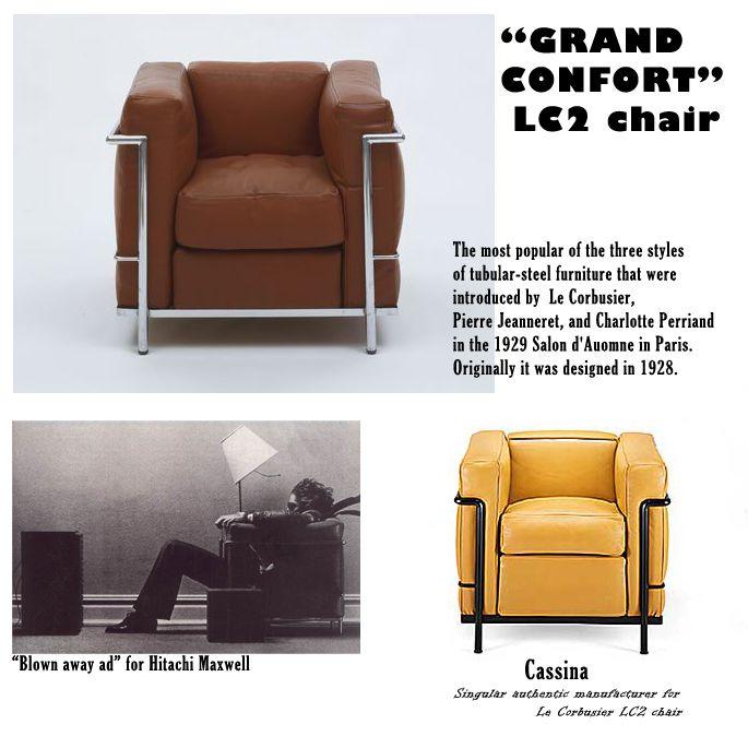 grand confort lc2 chair designed by le corbusier made just by