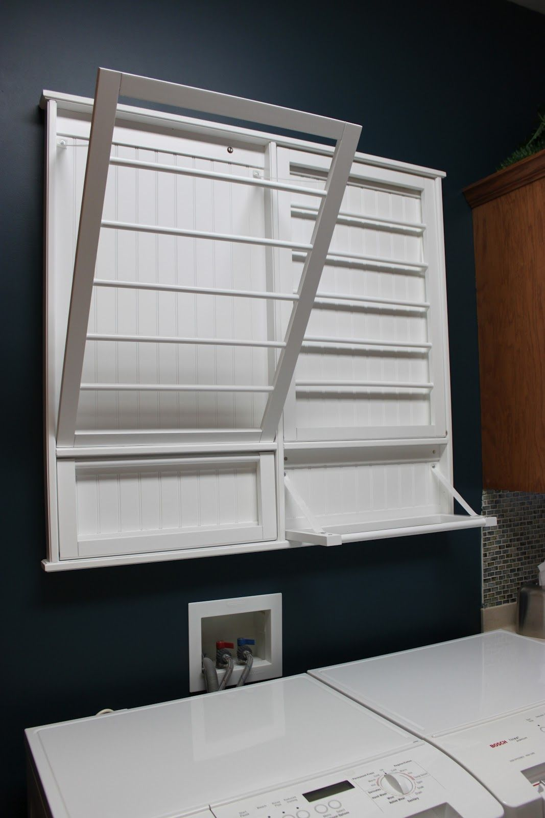 laundry room fold out hanging rack  House in 2019