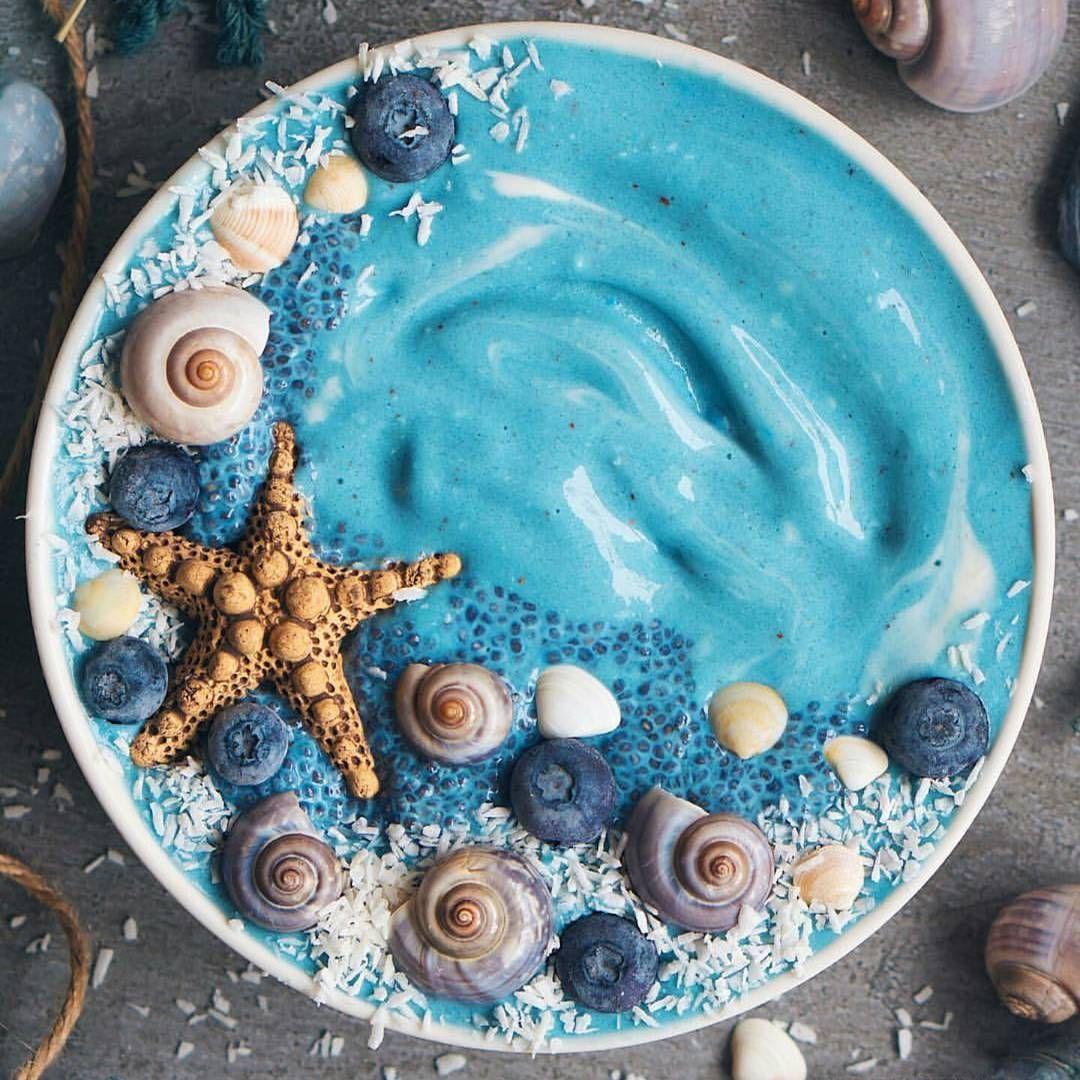 Mermaid Smoothie Bowl Ocean Vibes Laurafruitfairy Visit Www Unicornsuperfoods Com For Healthy