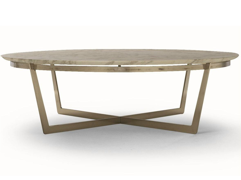 Tavolino scandinavo ~ Tavolino rotondo con piano in marmo vito by flexform tables