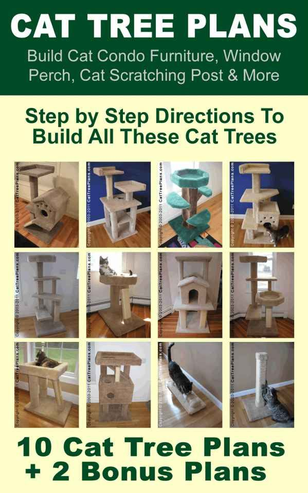 Cat tree plans build cat condo furniture window perch for Cat climber plans