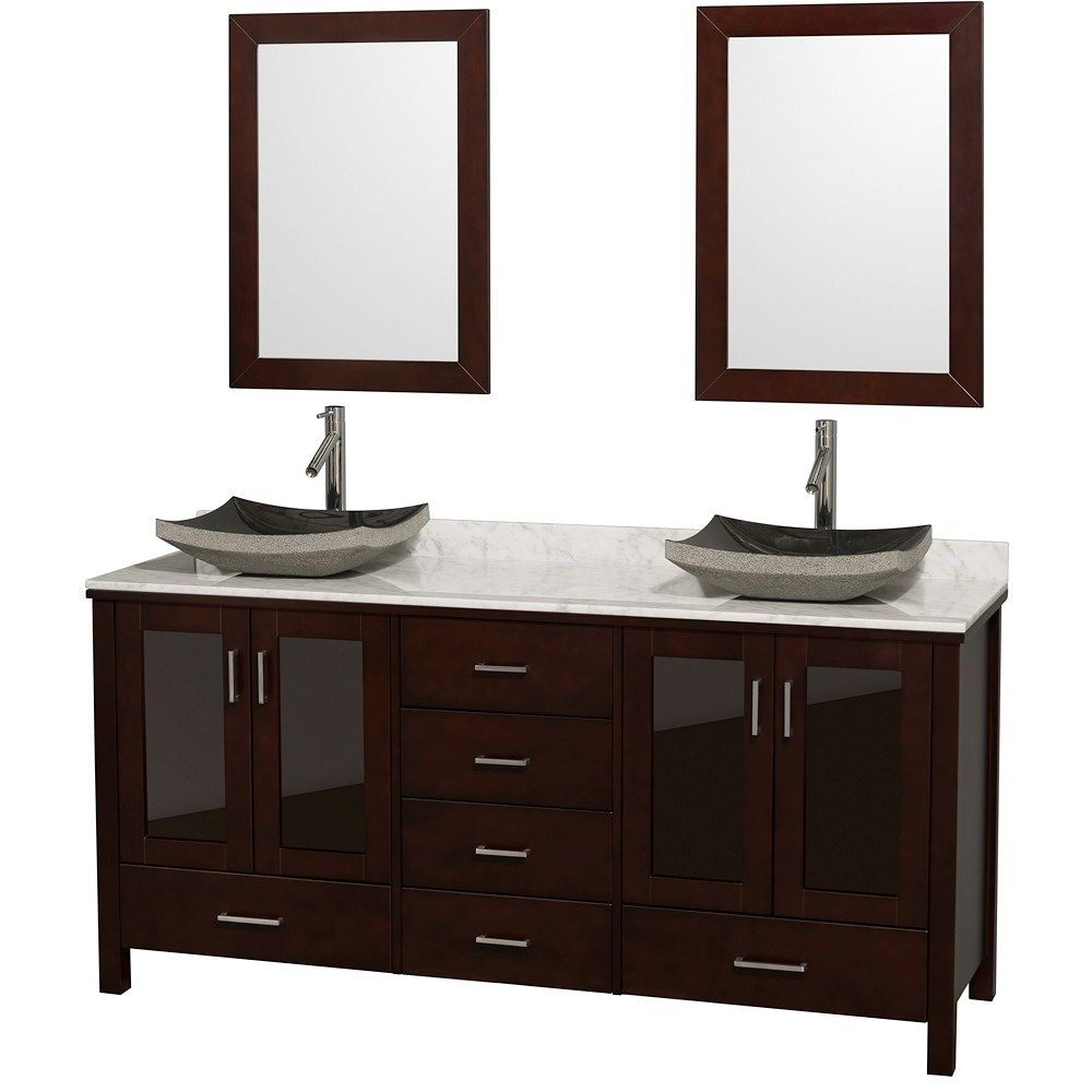 The Lucy 72 Inch Double Vanity With Undermount Sinks Has A