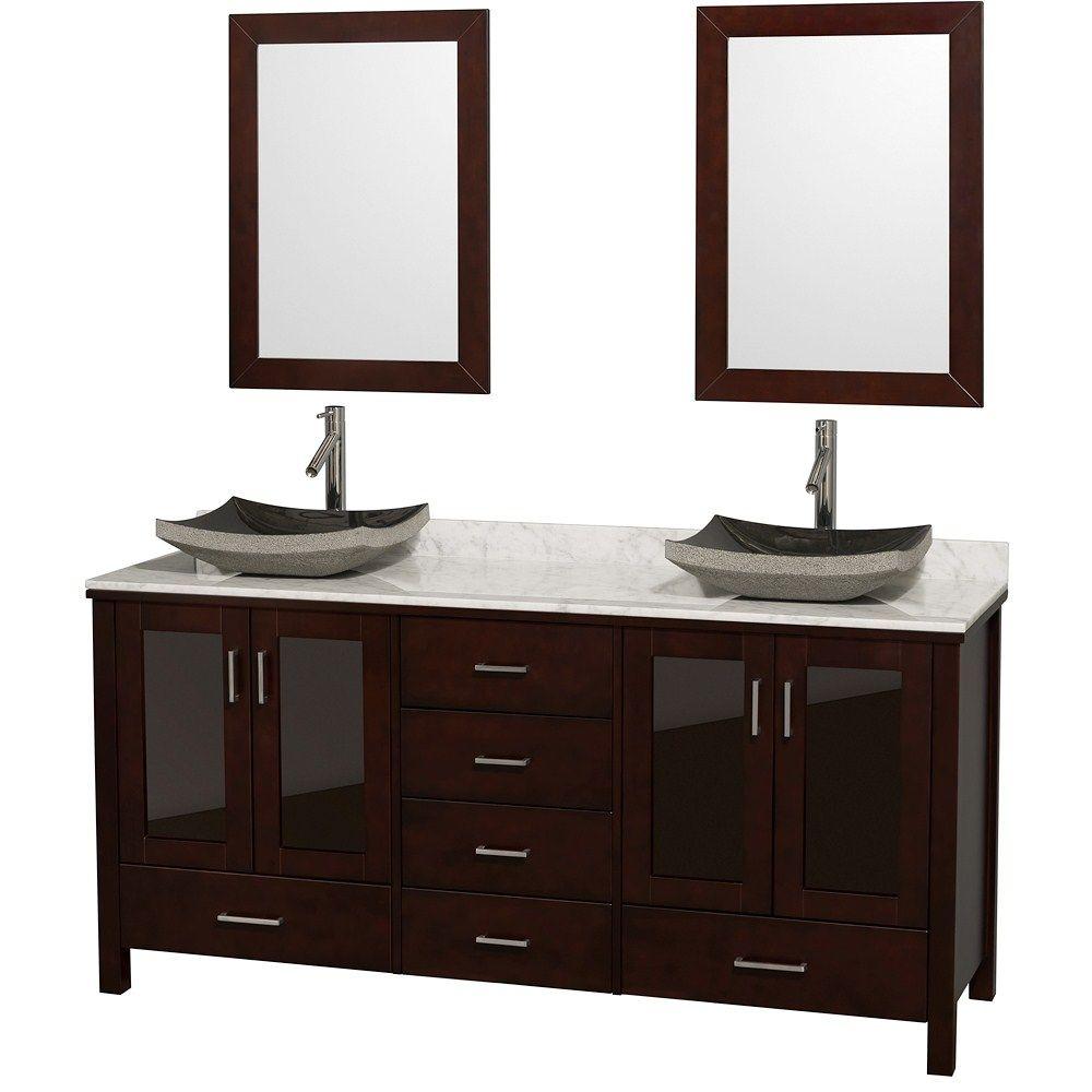 Lucy 72 Oak Bathroom Vanity Double Vanity Bathroom Marble Vanity Tops