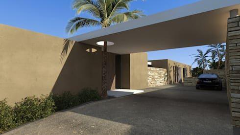 Villa e - Saint-Tropez par ARRIVETZ  BELLE Saint tropez and Villas - entree de maison contemporaine