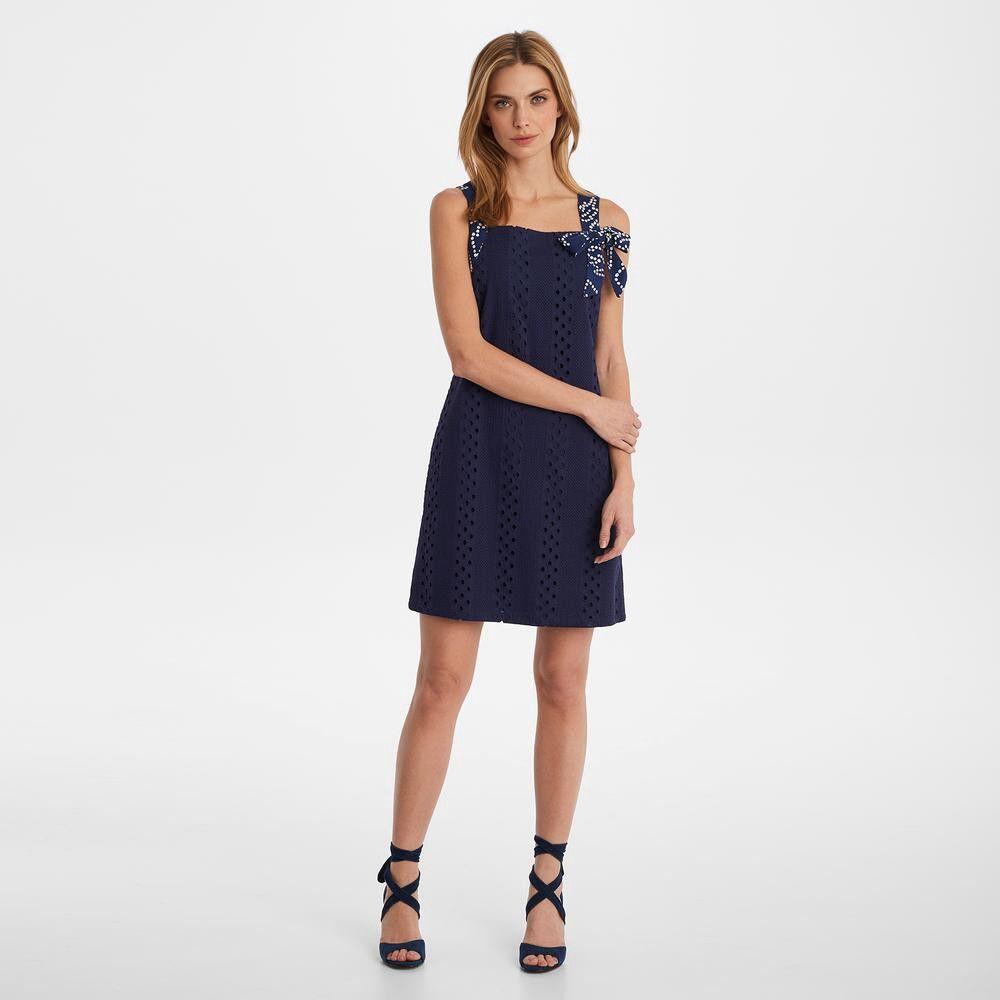 Karl Lagerfeld Paris Eyelet Shift Dress With Bow Strap 16 Eyelet Lace Dress Shift Dress Dress With Bow [ 1000 x 1000 Pixel ]