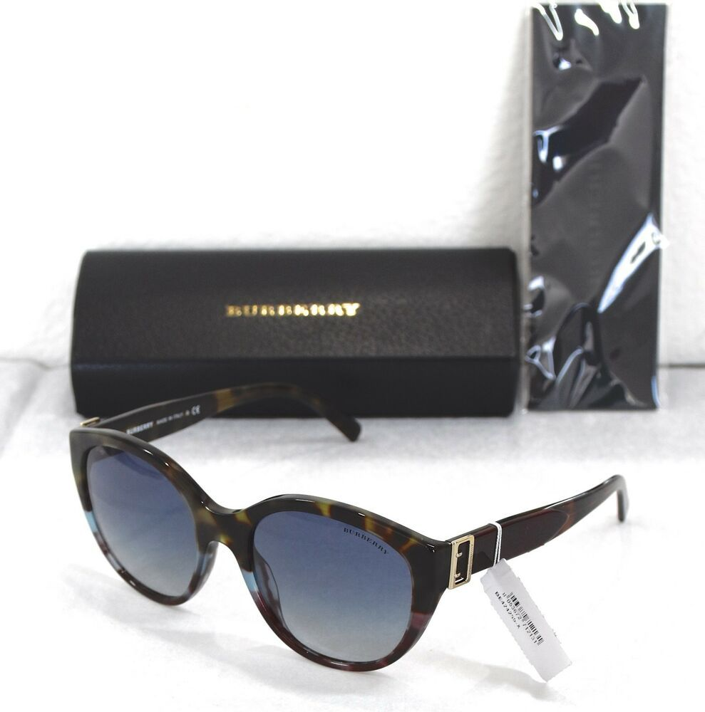 dd31c4d13d68 NEW BURBERRY 4242 3636 4L HAVANA MULTI BLUE GRADIENT CAT EYE SUNGLASSES.  55X19  Burberry  CatEye