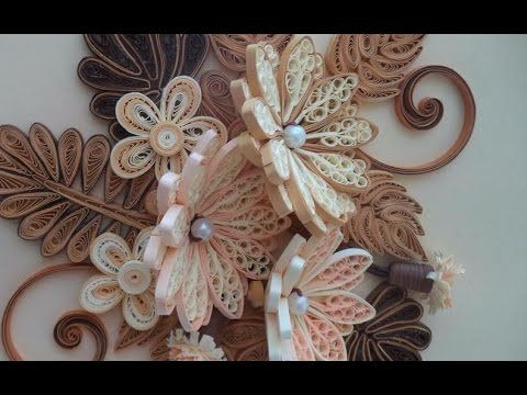 Paper quilling how to make beautiful quilling brownwhite flower paper quilling how to make beautiful quilling brownwhite flower quilling paper art quilling youtube mightylinksfo