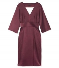 The Row V-Neck Satin Dress - Shop ways to add more color to your wardrobe: http://shop.harpersbazaar.com/trends/color-theory