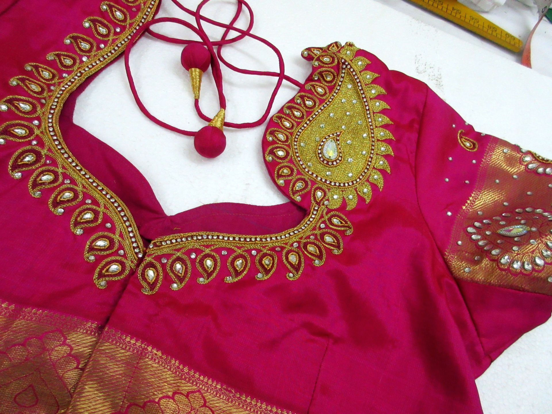 Kundan work hand embroidery samriddhi creations