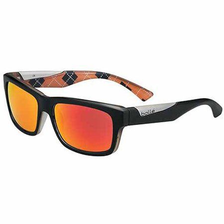 7eef03f892f97 Bolle Sunglasses, Jude, Matte Black/Orange Argyle, Men's, Size ...