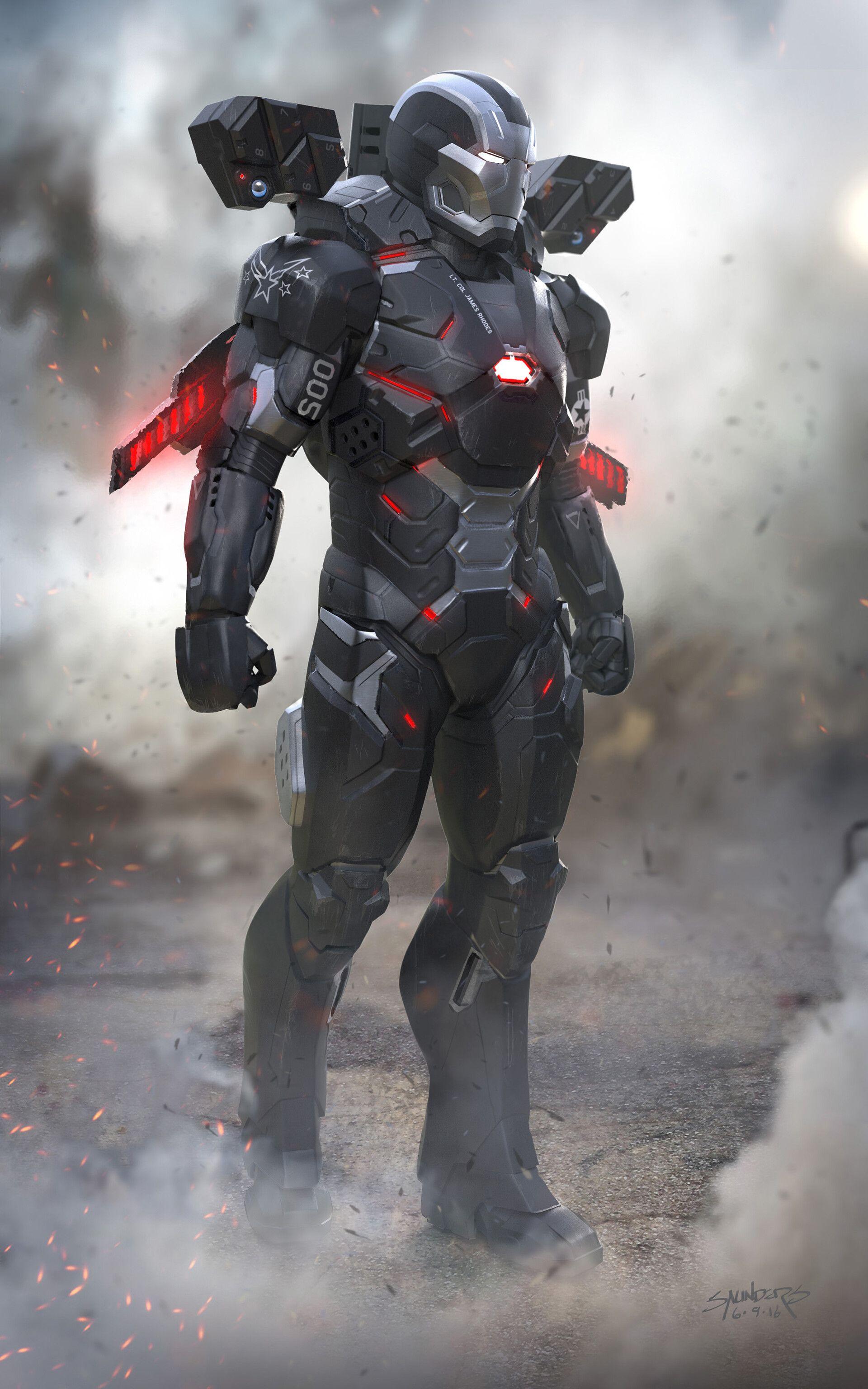 Artstation Avengers Infinity War 2016 War Machine Mk4 Alternate Design Phil Saunders Iron Man Avengers Iron Man Art Marvel