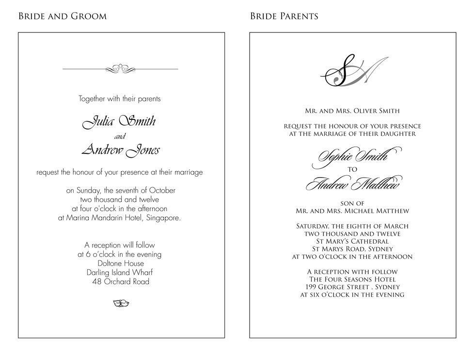 Spanish Wedding Invitation Wording In The Event That The Wedding Is Wedding Invitation Wording Examples Wedding Invitation Format Wedding Invitation Wording