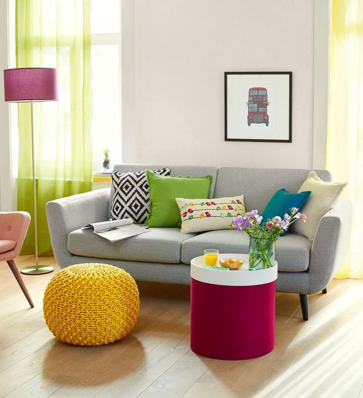 2.5er Sofa SEIDEL, Grau, Auch In Anderen Farben Erhältlich