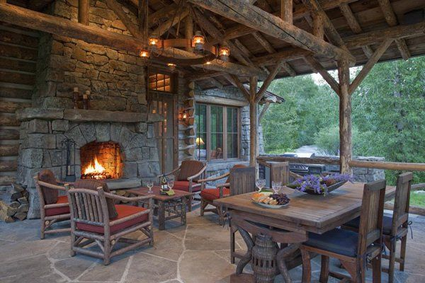 Gorgeous mountain getaway near Yellowstone Park | Log ... on Outdoor Living Space Builders Near Me  id=97423