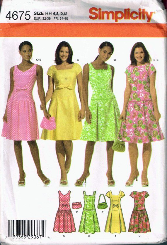 16ec89995423 Flattering clothes for big stomach - Ageberry  helping you succeed in  sewing. Size 6-12 Misses  Dress Sewing Pattern - Sleeveless Dropped Waist  Dress - Knee ...