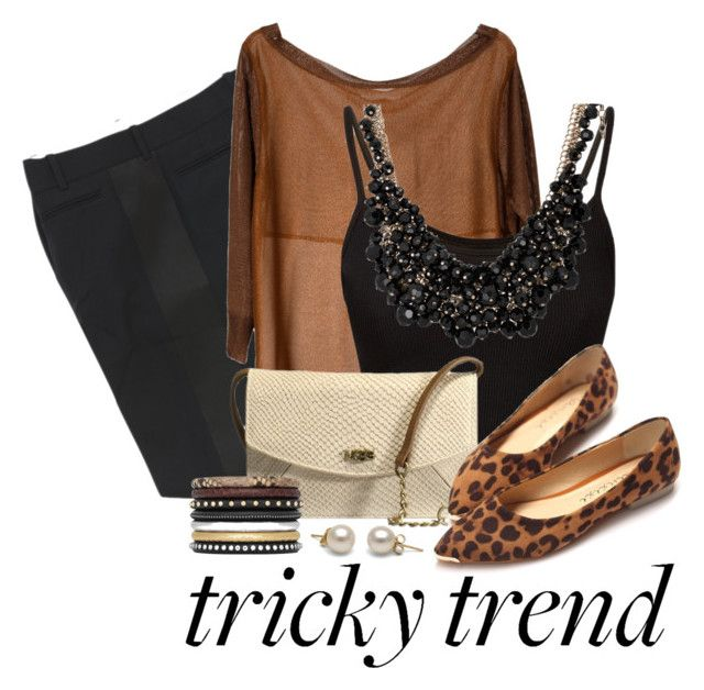"""""""Tricky Trend: Sheer Blouse #113"""" by little-fashionista-09 ❤ liked on Polyvore featuring CÉLINE, Lucy Paris, UGG Australia, Yves Saint Laurent and sweet deluxe"""