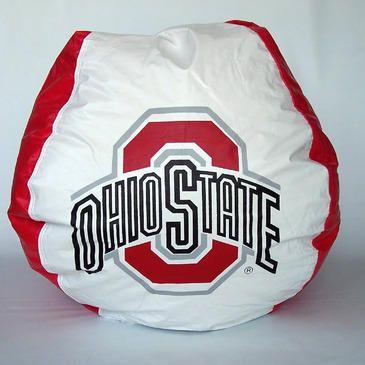 Bean Bag Boys Vinyl Bean Bag Chair In Ohio State Buckeyes Buckeyes