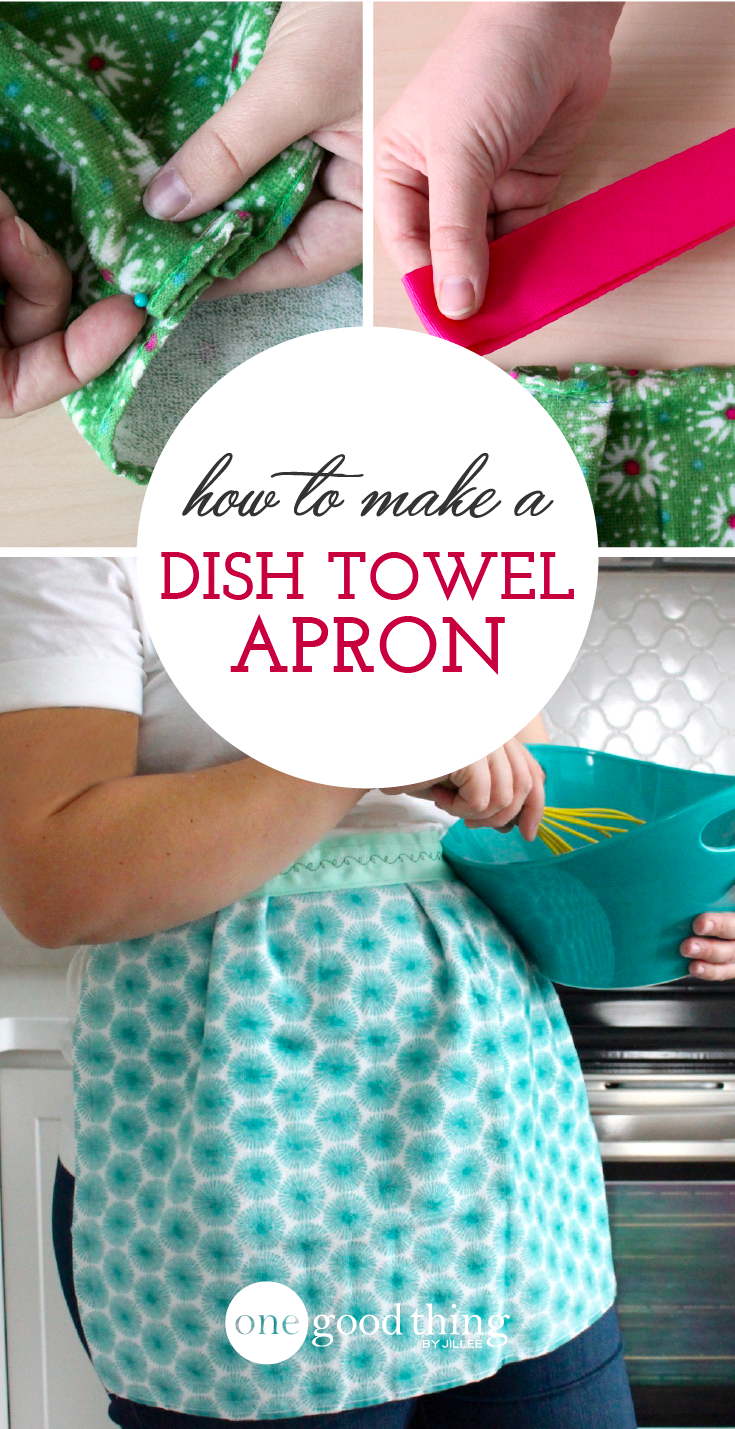 how to make a cute and easy apron out of a dish towel apron
