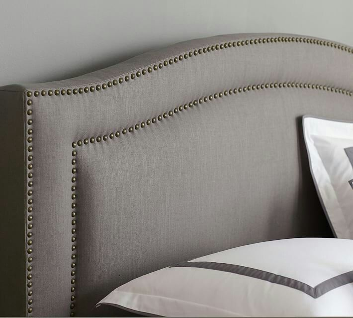 Tamsen Curved Upholstered Headboard from Pottery Barn | Furniture ...