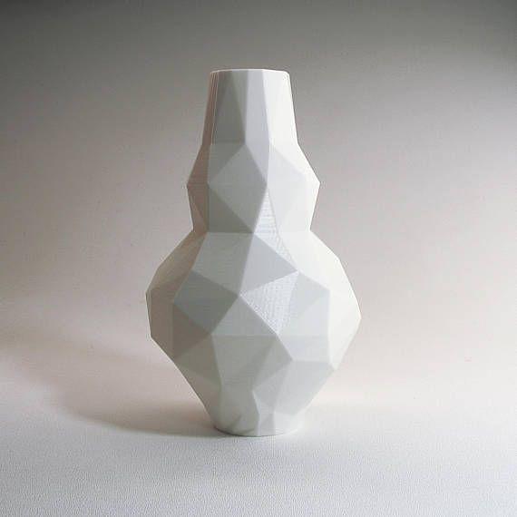 Low Poly 3d Modern Vase Modern Pottery Modernist Vase Gourd Vase