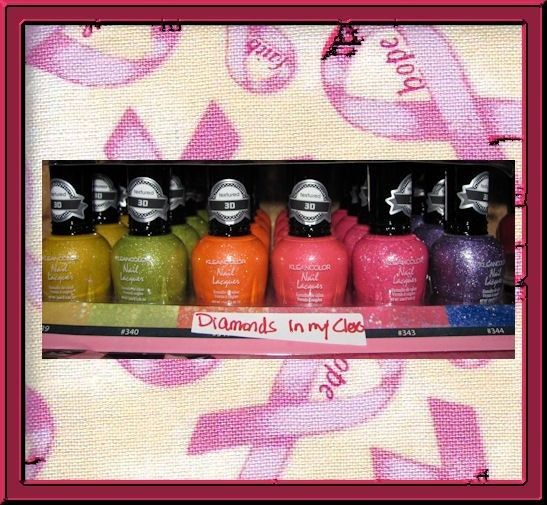 KleanColor Diamonds in My Closet Set of 6 Nail Lacquer BRAND NEW BOTTLES #KleanColorDiamondsinMyClosetSetof6NailLac