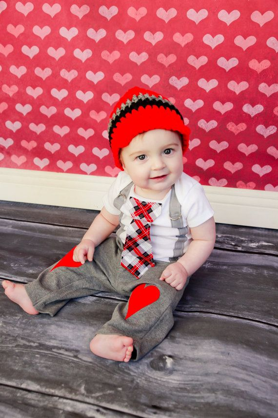 Get the Set  Valentines Day Boys Tie Onesie or by shopantsypants