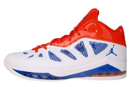 half off 6ec10 7eabd ... Nike Jordan Melo M8 Advance New York Knicks Home White Orange ...