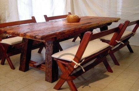 Mesa envejecida > Mesas de madera de quebracho, sillas de quebracho ...