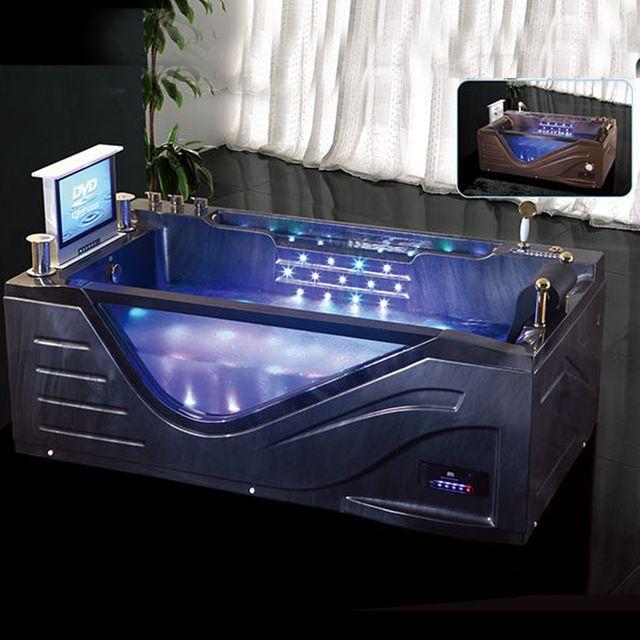 Source HS-B308 square shower jet whirlpool bathtub with tv/ tub ... | {Duschbadewanne whirlpool 58}