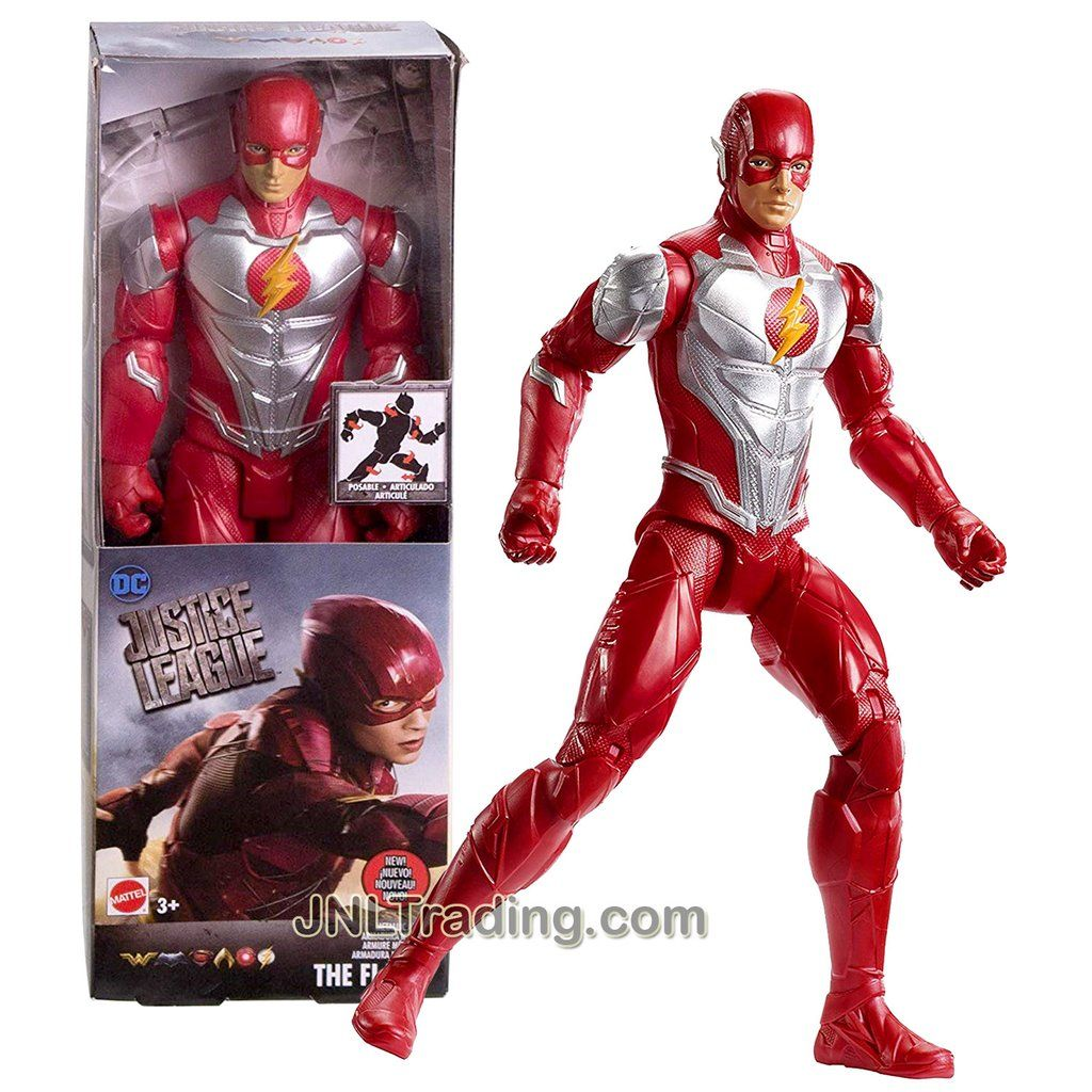 Year 2018 Dc Comics Justice League Movie Series 12 Inch Tall Figure The Flash Fwc16 With 11 Points Of Articulation Dc Comics Dc Comics Collection Justice League