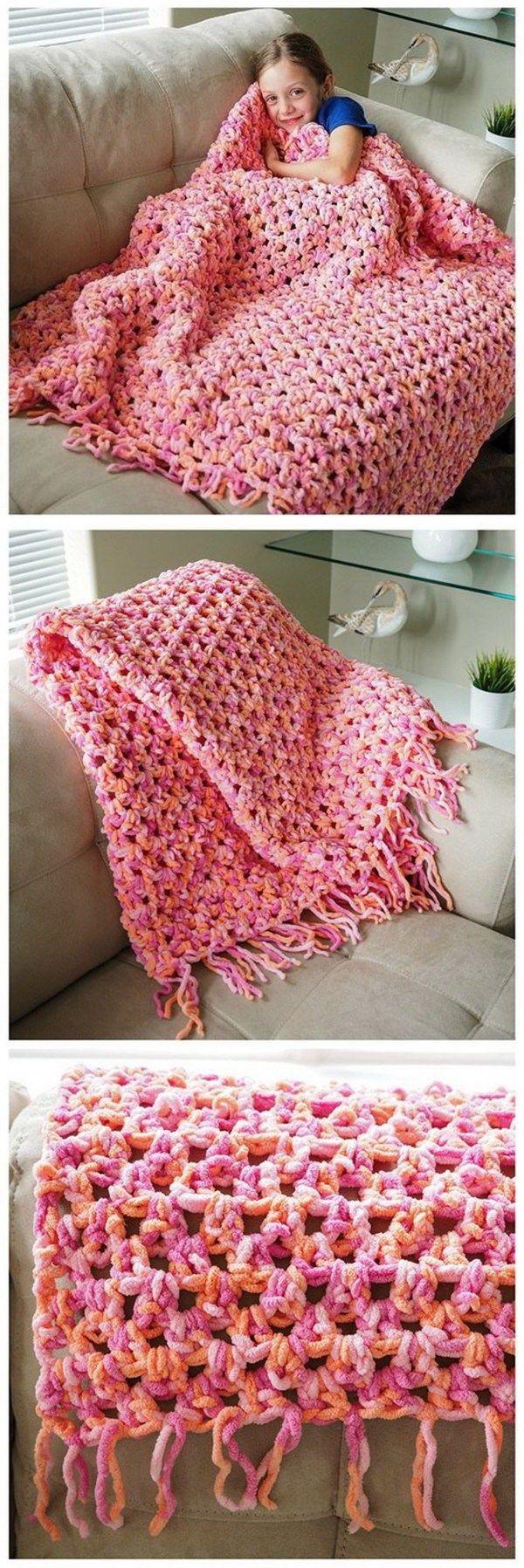 35+ Free Crochet Blanket Patterns & Tutorials | Manta, Puntos ...