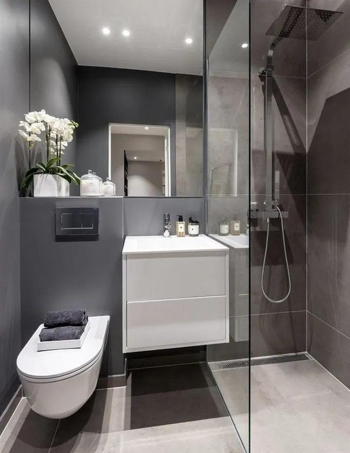 9 Beautiful Modern Bathroom Shower Ideas 6 Small Bathroom Small Bathroom Decor Modern Bathroom