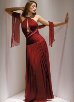 Pleated Evening Gown.  Available in More Colors.  Sizes 2-26W.