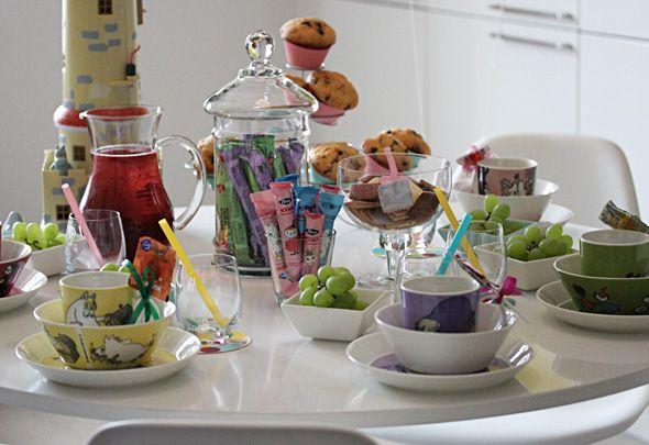 Moomin party table setting - Muumi-teemajuhlat kattaus, Ruoka.fi