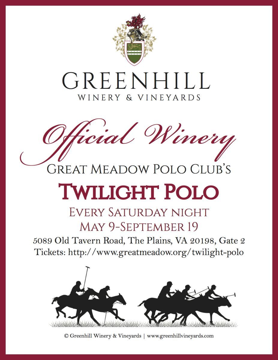 Official Winery Sponsor of Great Meadow Twilight Polo 2015