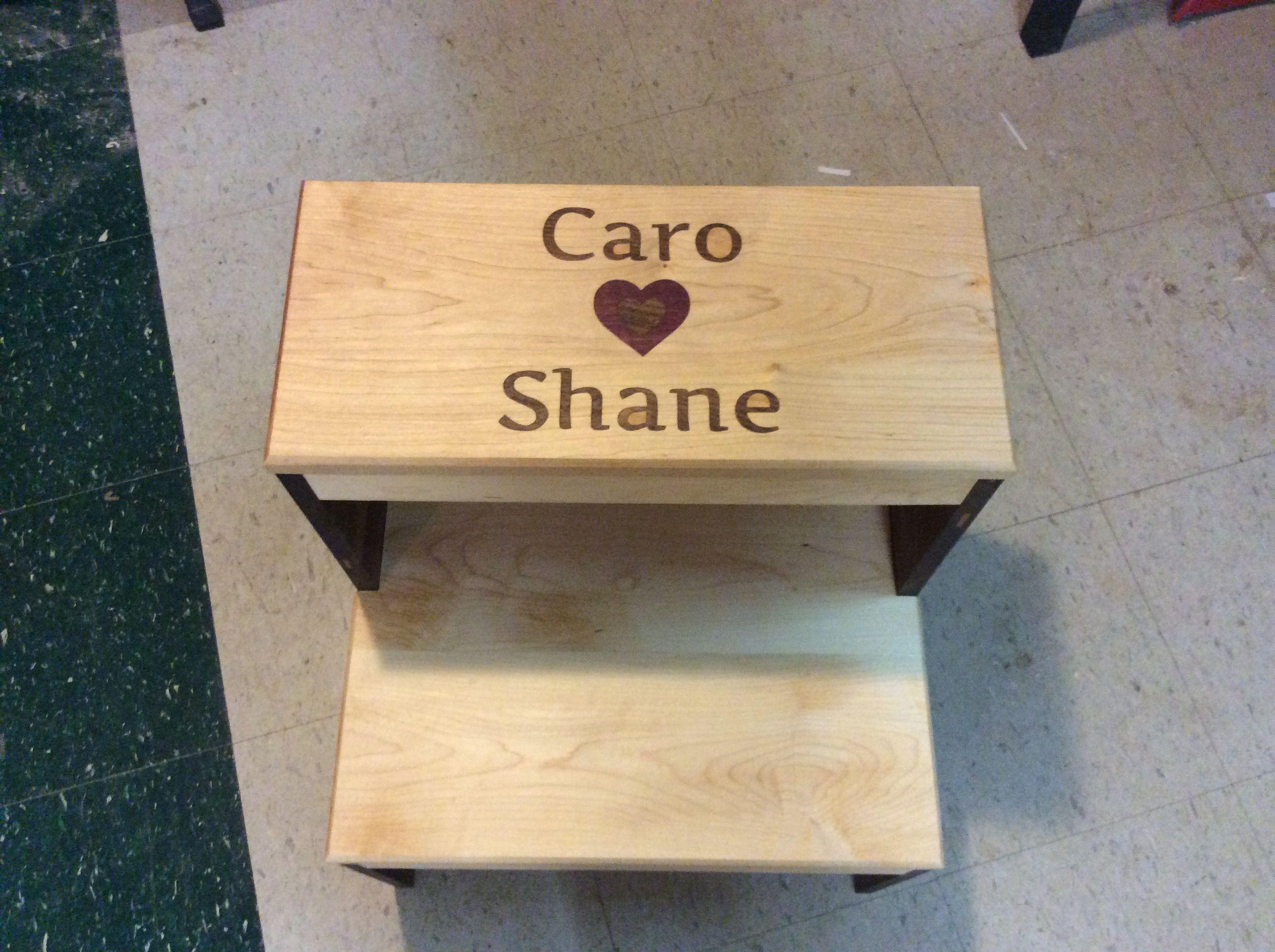 Custom inlaid two step bench. http://ift.tt/2lH9frc