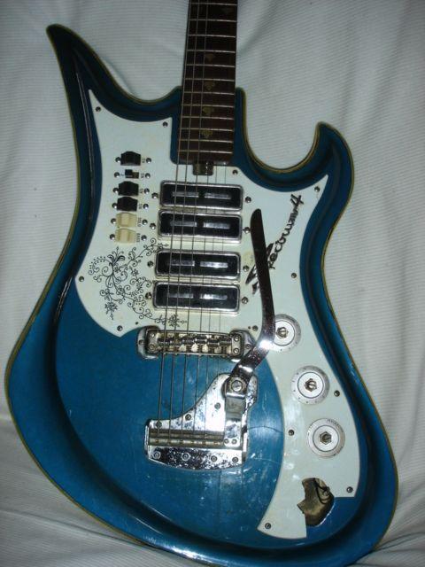 teisco spectrum 4 guitar for restoration or parts guitars instruments and guitar rack. Black Bedroom Furniture Sets. Home Design Ideas