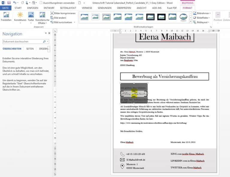 Unterschrift In Word Mit Handy Einscannen Und Freistellen Lebenslauf