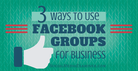 .@facebook groups are a smart way to build community for your org http://bit.ly/1Fh2Zcl   @magspatterson #smallbiz