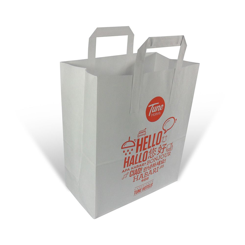 buying new authorized site united states Printed paper bags with flat handles from robinspkg.co.uk ...