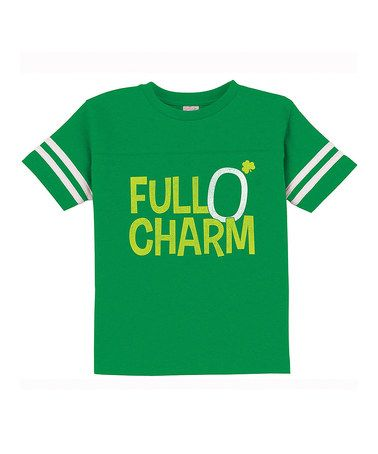 Love this Kelly Green 'Full O' Charm' Football Tee - Toddler & Kids on #zulily! #zulilyfinds