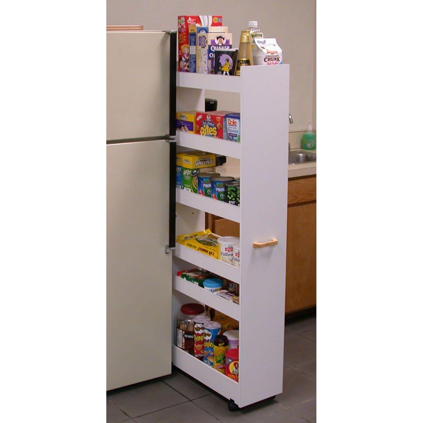 Venture Horizon 4036 Pantry Cabinet Narrow Pantry Rolling Pantry