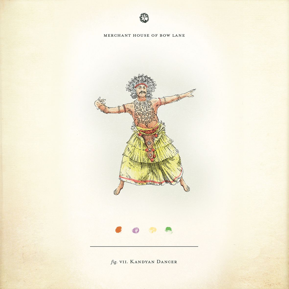 Kandyan Dancer Illustration From The New Merchant House Of Bow Lane Cocktail Menu Features Fourteen Illustrated Rum Illustration Black And White Lines Chadwick