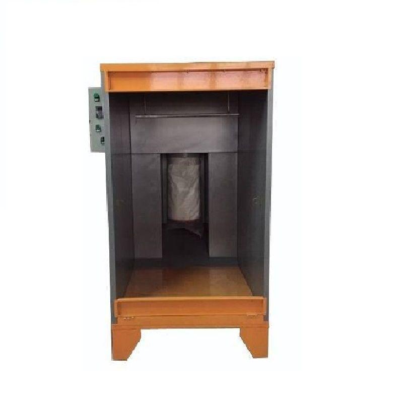 Economical electrostatic powder coating spray booth