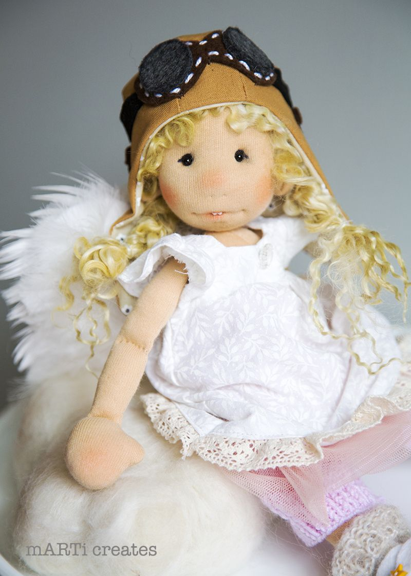 Gabrielle - Art Cloth Doll by mARTi creates