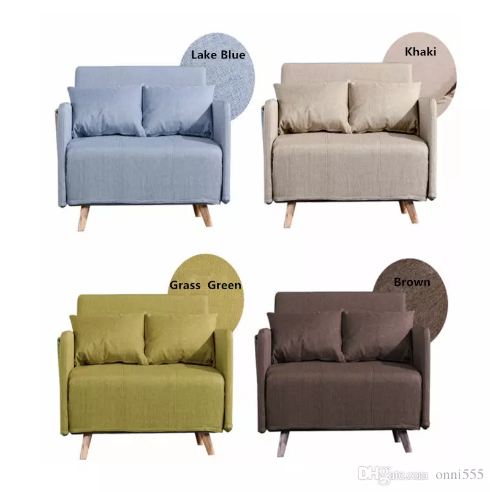 High Quality Metal Soft Folding Sofa Bed Casual Home Lounger With Steel Frame Linen Cover Rebound Foam Armrests F01d2