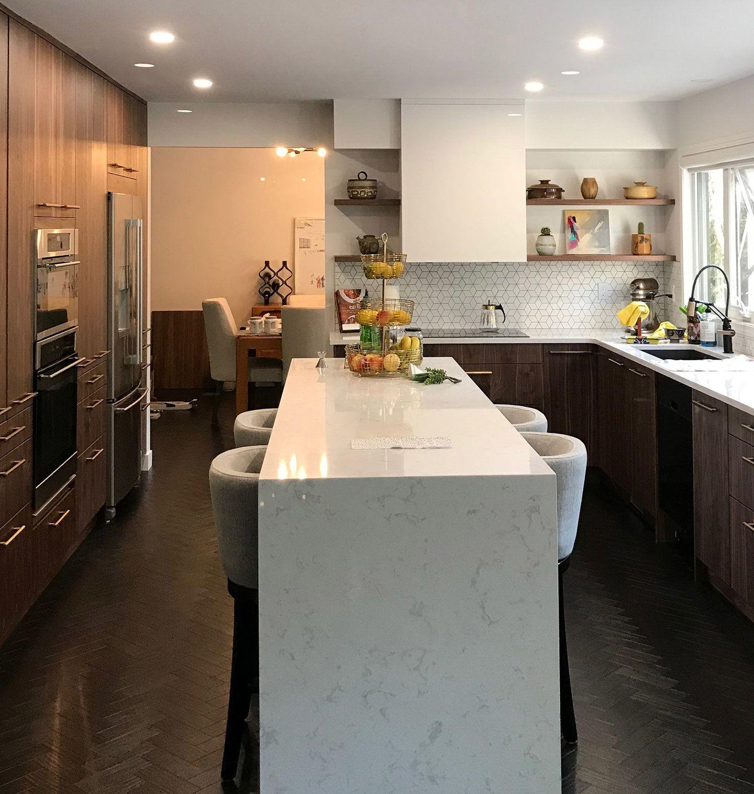 Style Slab Doors Finishes Perfect Sense Alpine White Domestic Wood Veneer Vertical Grain Walnut Kitch Design Kitchen Style Kitch Cabinets